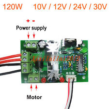 10V 12V 24V 30V Adjustable DC Motor Speed PWM Controller Reversing Switch 120W