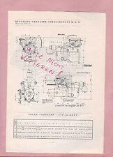 BERLIN, Typentafel 1934, Deutsche Vergaser GmbH Solex-Vergaser Typ 30-40 BFV