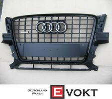 Audi Q5 SQ5 Grill Matte Black S-line Front with Quattro Emblem 08-11 Genuine NEW