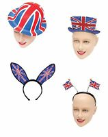 UNION JACK JUBILEE AND OLYMPICS ENGLAND PARTY HATS FANCY DRESS