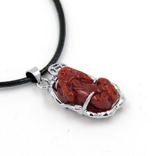 Red Coral Alloy Metal Happy Lucky Pixiu Pi Xiu Coin Amulet Pendant Talisman