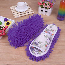 Fashion Women Dust Mop Slippers Socks Microfiber House Slippers Bedroom Shoes