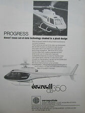 1/1978 PUB AEROSPATIALE HELICOPTERE ECUREUIL AS 350 HUBSCHRAUBER HELICOPTER AD