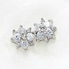 Lot of 4 Mini Star Clear Wedding Bridal Rhinestone Crystal Flat Back Loose Beads