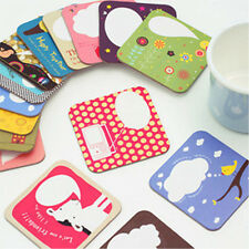 4pcs Cute Cartoon Coaster Cardboard Heat Cup Coffee Glass Drinks Holder kid Mat
