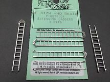 HO 1/87 Alloy Forms # 3174   Firetruck Extension Ladders ( 3 sets of 2 each)