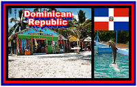 DOMINICAN REPUBLIC - SOUVENIR NOVELTY FRIDGE MAGNET - BRAND NEW - GIFT