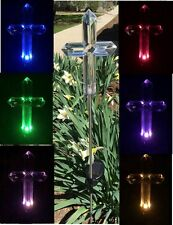 2x SOLAR CROSS GRAVE DECOR GARDEN STAKE OUTDOOR LANDSCAPE COLOR CHANGE LED LIGHT