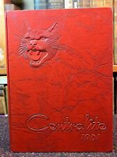 "School Annual Yearbook ""Centralite"" Central High Knoxville Fountain City TN 1961"