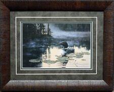Derk Hansen Morning Reflections Loon Print-Framed  19 x 15