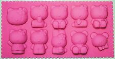 Hello Kitty Silicone Mold Pan 10 Cavities - NEW