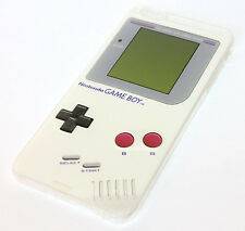iPhone 6 / 6S - Ultra Thin Soft TPU Rubber Case Cover White Gray Gameboy Player