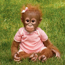 ASHTON DRAKE Annabelle's Hug Lifelike Baby MONKEY Doll NEW