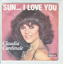 "Claudia CARDINALE Vinyl 45 tours SP 7"" SUN... I LOVE YOU IBACH  IBACH 60051 RARE"