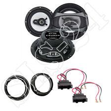 Crunch GTi62 180W Lautsprecher + Ringe + Adapter für VW Passat 3B, Polo 9N