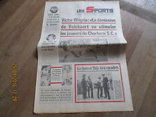 JOURNAL LES SPORTS 301 29/30  decembre 1973 belgique football basket luis ocana