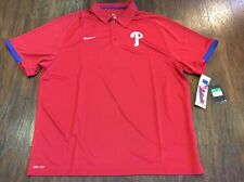 Authentic Nike Philadelphia Phillies Polo Jersey Shirt Extra Large XL MLB Red