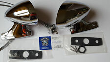 1970 E-Body Challenger Barracuda Cuda CHROME Mirrors PAIR-NEW