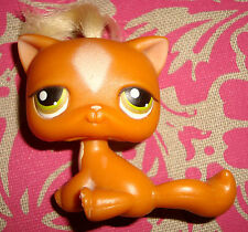Littlest Pet Shop # CHAT orange avec meche Short Hair LPS PETSHOP Cat ( 226?)