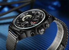 NAVIFORCE Black Men Date Army Waterproof  Stainless Steel Sports Wrist watch