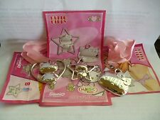 KINDER SURPRISE SET HELLO KITTY METAL PINS FERRERO MEDALS COLLECTIBLES + PAPERS