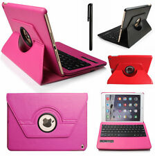 For iPad 2 3 4 360°Swivel Rotating Leather Case Cover with Bluetooth Keyboard