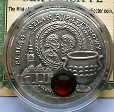 2009 Niue Large Antique.Silver $1 Amber Route-Elblag