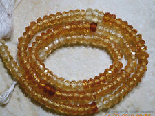 "Micro FACETED Hessonite Garnet Large 4.5-5mm Rondelle Gemstone Beads14"" Str A++"