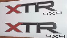 XTR 4x4 decal stickers, flat black F150 SET 2
