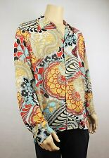 Mens Vtg 70s Style Fresh Prince Crazy Paisley Scarf Shirt Ladies Festival L-XL
