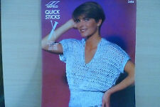 "Vintage Hayfield Womens Top  size 28""-38""  in Chunky  Knitting Pattern No 2484"