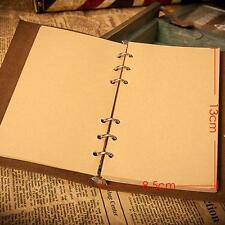 Retro Leather Vintage String Leaf Blank Diary Notebook Journal Sketchbook YLW