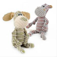 Pet Puppy Chew Squeaker Squeaky Plush Sound Striped Donkey Soft Toy for Dog Cat