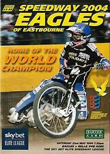 Speedway Programme EASTBOURNE EAGLES v BELLE VUE ACES May 2004