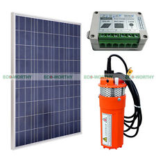 Solar Pump System Kit:100W Solar Panel W/ 12V Deep Well Water Pump & Controller