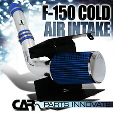 05-08 Ford F150 5.4L V8 Heat Shield Cold Air Intake Induction System+Filter Blue