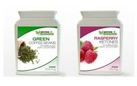 60 Raspberry Ketone & 60 Green Coffee Bean Extract Diet Weight Loss Bottle Pack