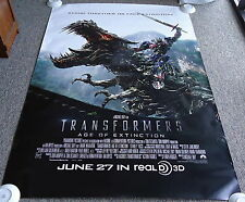 2014 TRANSFORMERS AGE OF EXTINCTION ~ 48x70 inch movie poster ~ BUS SHELTER