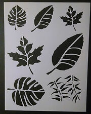 """Leaf Leaves Branch Nature Multiple 8.5"""" x 11"""" Custom Stencil FAST FREE SHIPPING"""