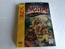 Ntsc usa Sega 32x brutal above the claw nice cib boxed retro vtg jeu vidéo