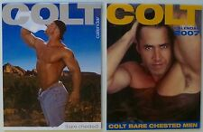 COLT BARE CHESTED MEN CALENDAR X 2 GAY EROTICA 2007, 2009 COLOR PHOTOS NAKED MEN