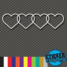 HEARTS VINYL STICKER DECAL DOPE Fits VW EURO FRESH GIRL CUTE SLAMMED S4 A4 AUDI
