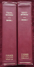 Ellen G White Duo: Testimonies for the Church Books 2 and 3 SDA Softcover © 1946