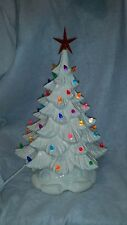 Vintage Style Mold..New Ceramic Christmas Tree WHITE  Bulbs/light .. USA..