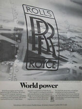 6/1975 PUB ROLLS ROYCE ENGINE 219 AIRLINES LONDON HEATHROW AIRPORT ORIGINAL AD