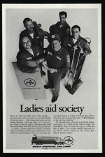 1969 NORTH AMERICAN Van Lines - Moving Men - Ladies Aid Society - VINTAGE AD