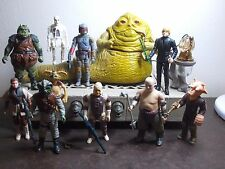 Vintage Star Wars Jabba The Hutt Set 1983 Complete + 9 Vintage Figures (I)