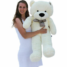 "Joyfay® 47"" 120cm White Teddy Bear Giant Big Huge Plush Toy Birthday Gift"