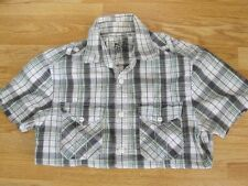 RED HERRING CHECKED CASUAL SHIRT MENS SIZE SMALL FIT ADULT OR OLDER TEENAGE BOY