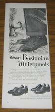 1955 Ad Bostonian Winterproofs Mens Shoes Whitman,MA